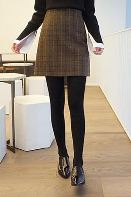 check in, skirt [울80%]