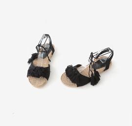 tassel cotton, shoes