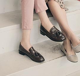 tassel black, shoes