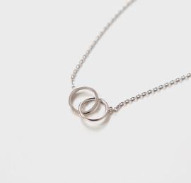 annie silver, necklace