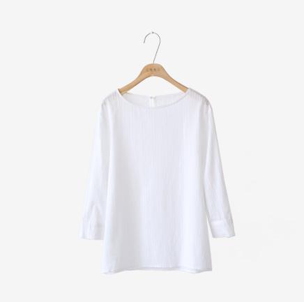 mono white, blouse