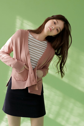 one love, cardigan (pink)