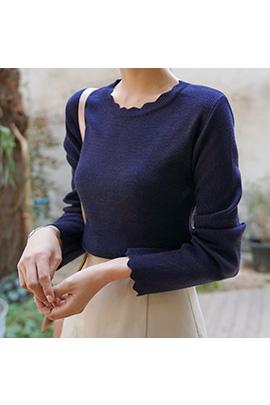 wave line, knit