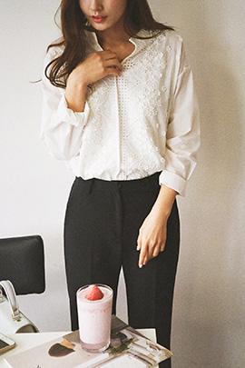 floret lace, blouse