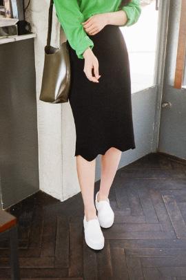 cut black, skirt
