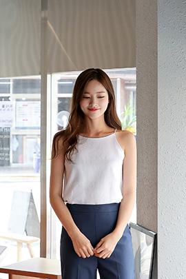 mary linen, sleeveless
