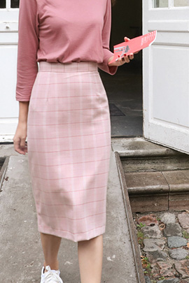 by pink, skirt