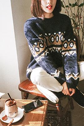 love snow, knit