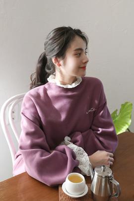 very lace, tee [기모안감]