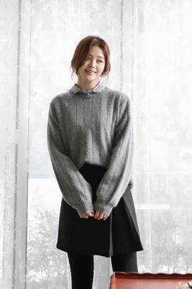 gray sherbet, knit