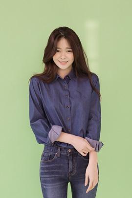 bluemoon, blouse (deep blue)