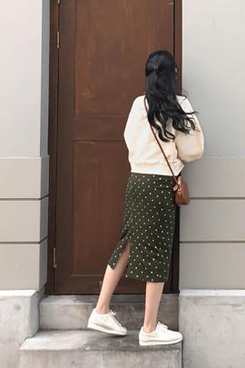 khaki dot, skirt