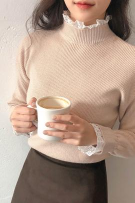 cotton candy lace, knit