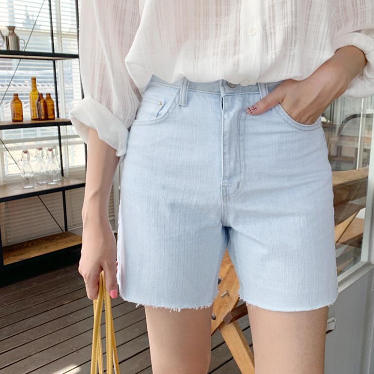 Basic light denim pants