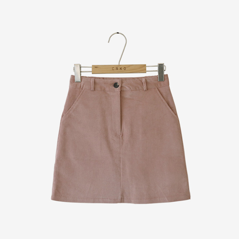 corduroy on, skirt