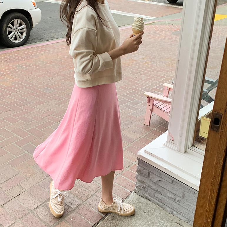 slim flare long skirt