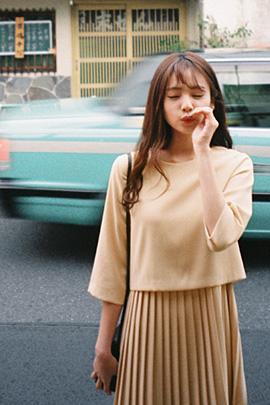 fresh pleats dress