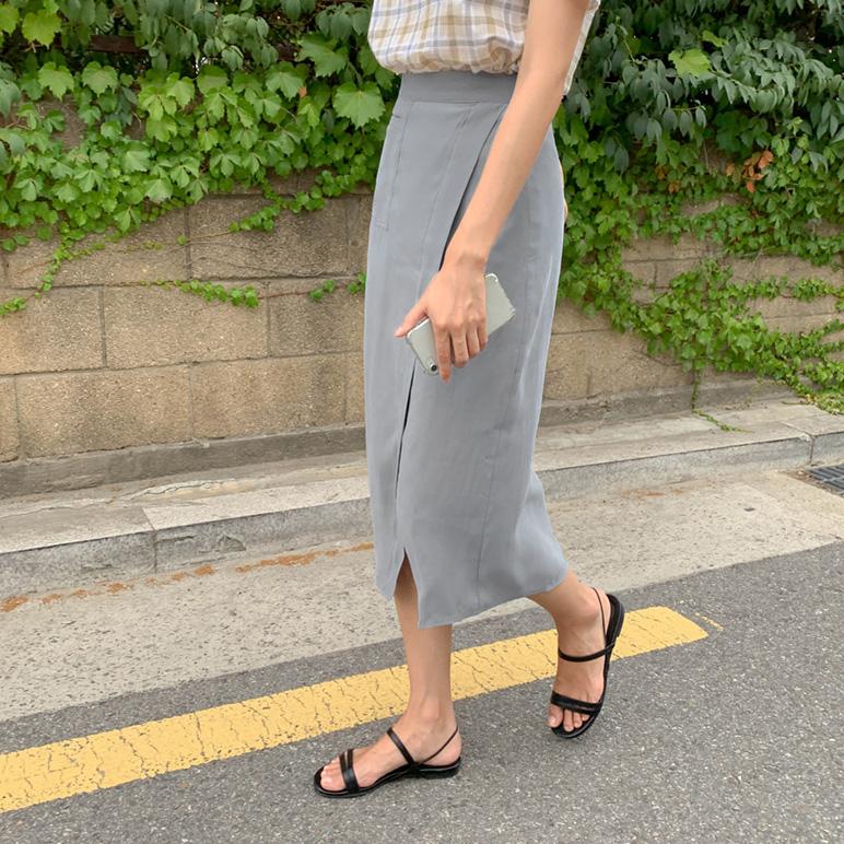 Pocket Slit Skirt