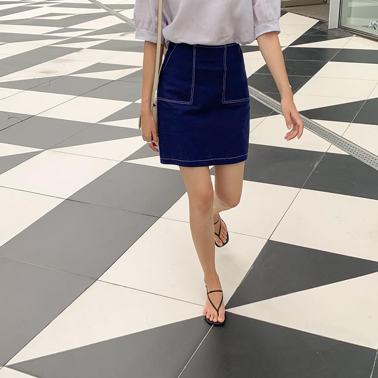 Stitch Pocket Skirt