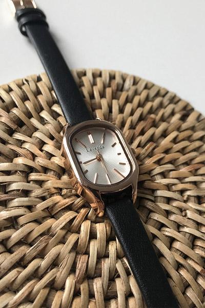 Round golden watch