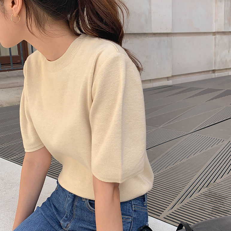 Casual round neck knit