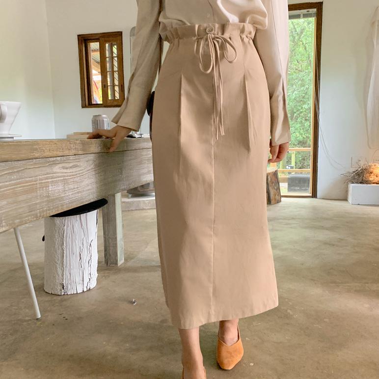 Pocket banding skirt