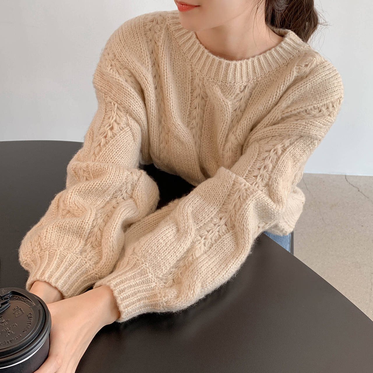 Sweet twist cable knit