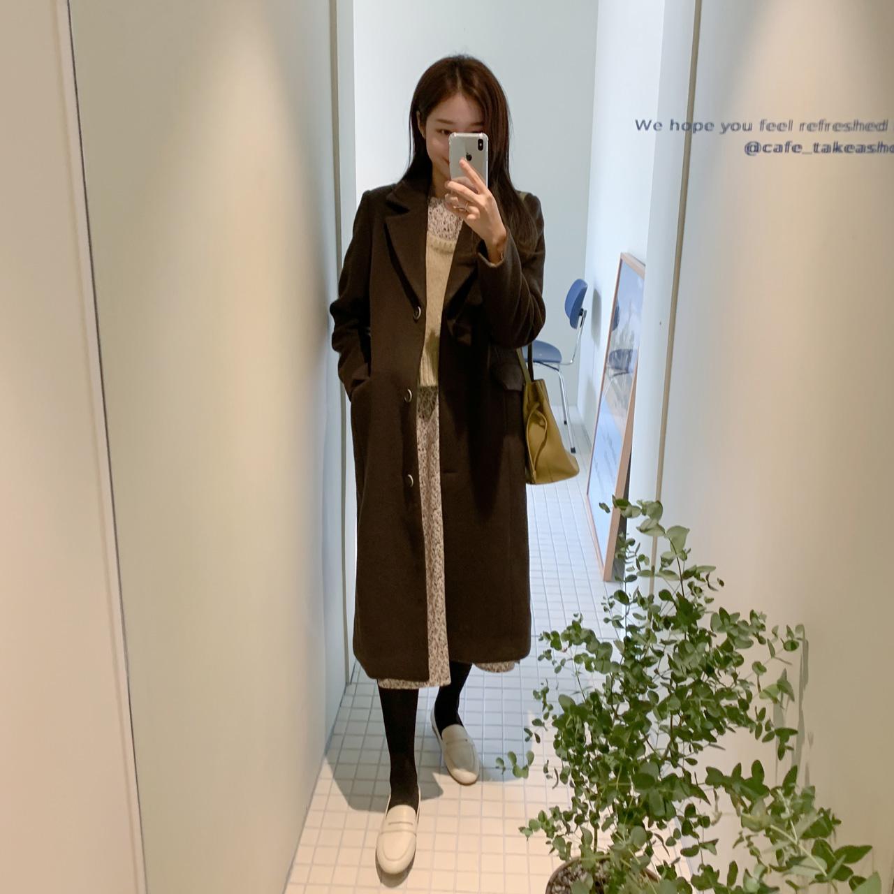 Brownie classic coat(Mink Lining)