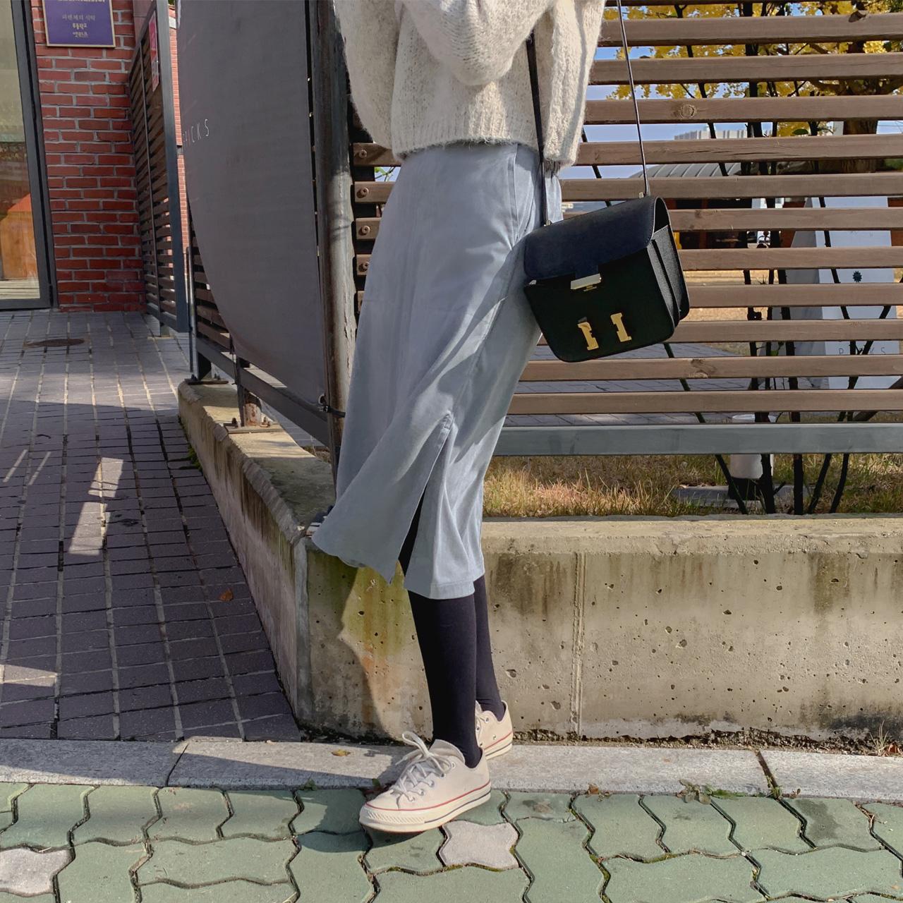 Medium suede skirt