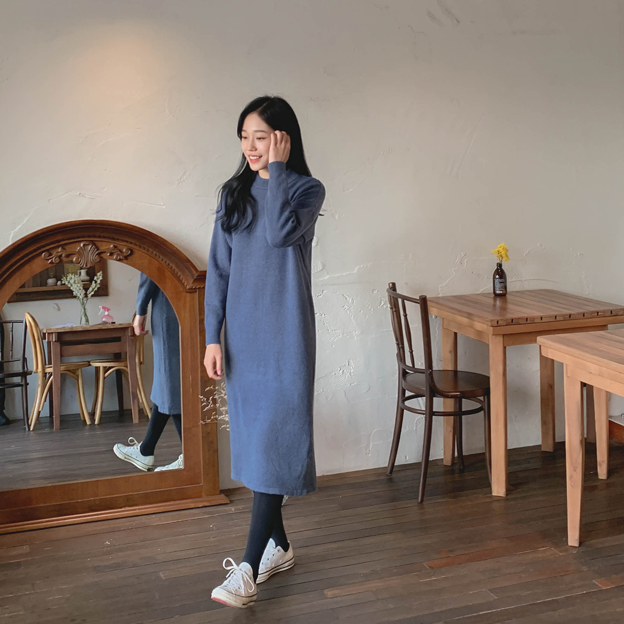 Feminine knit dress