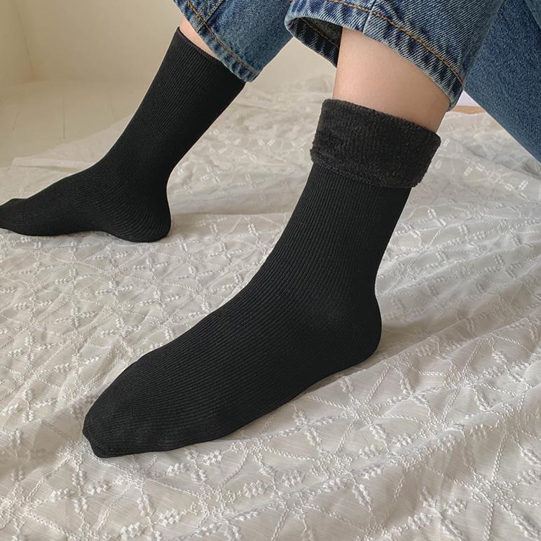 Corduroy socks[brushed lining]