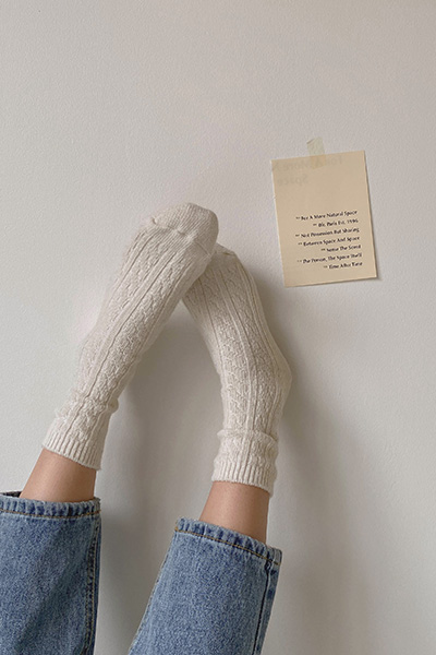 Twist wool socks