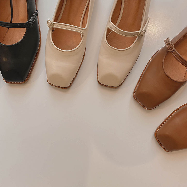Square stitch shoes