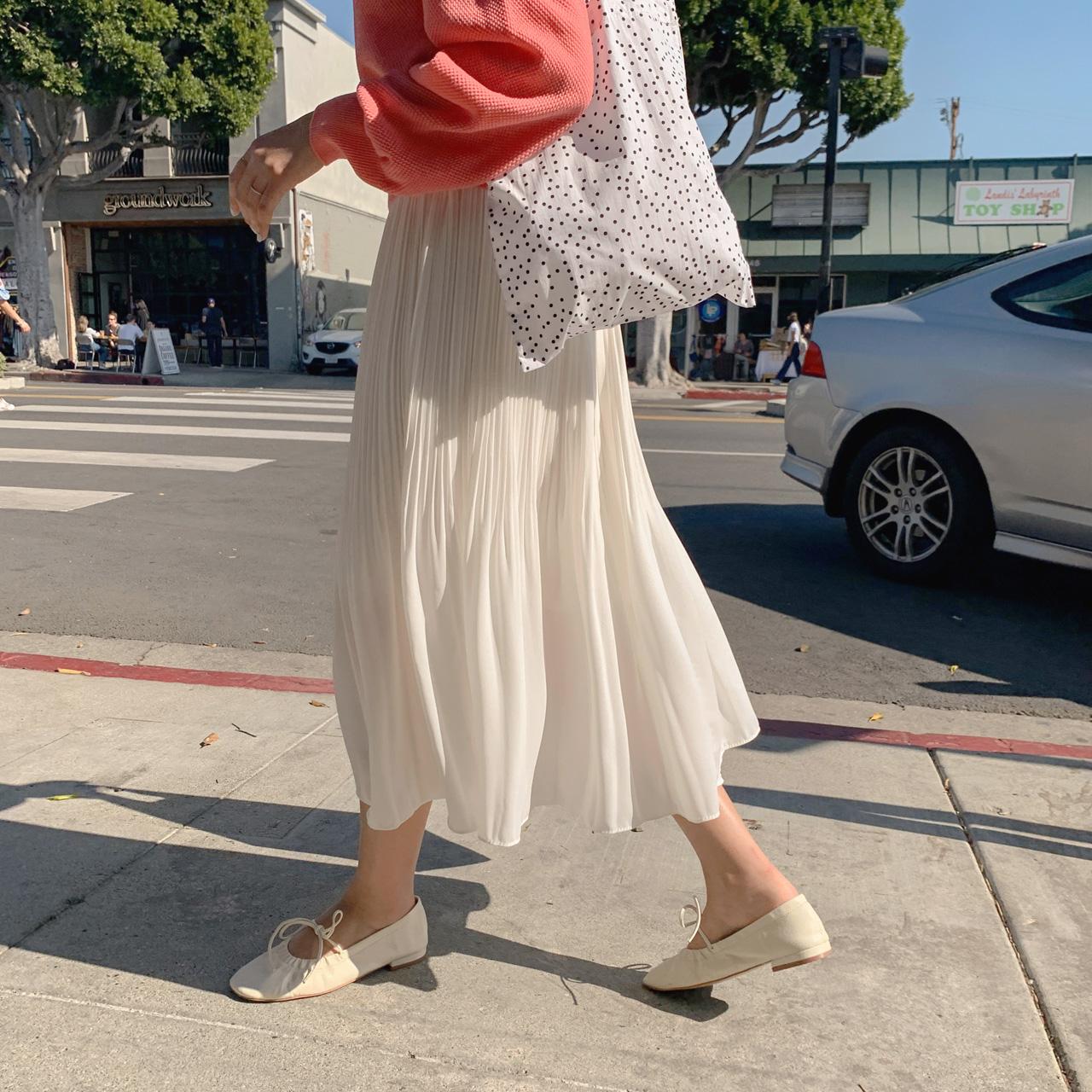 Pleats wrinkle skirt_Park min young's pick