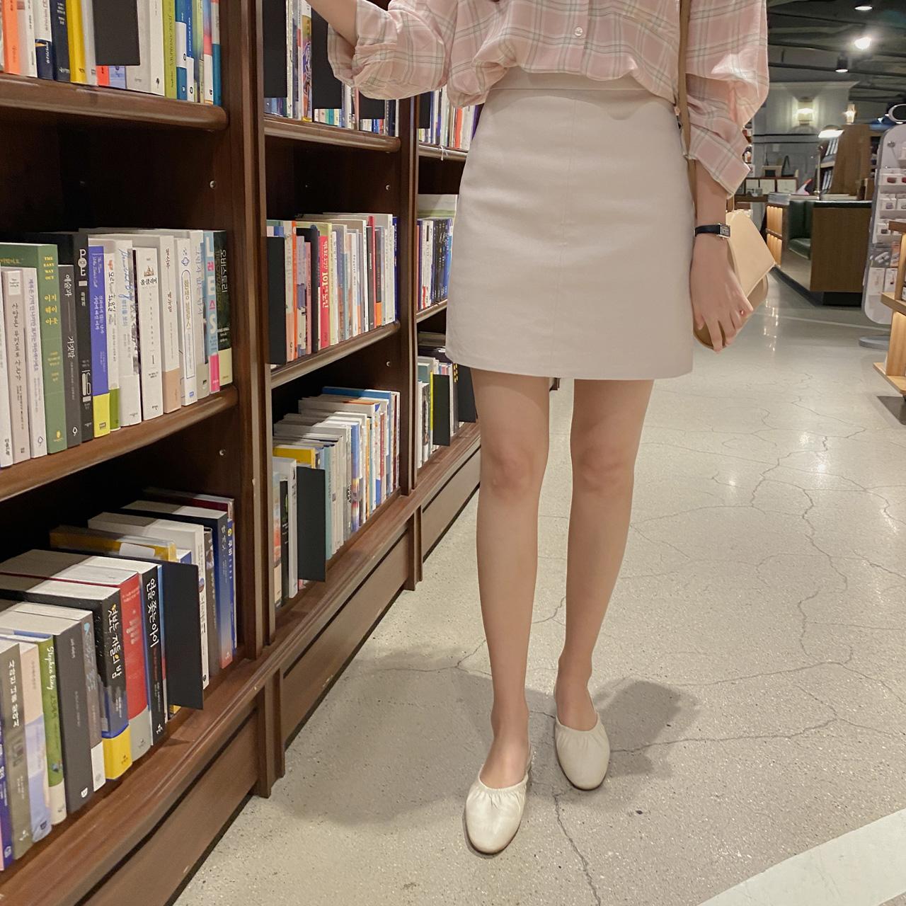 Cotton basic skirt