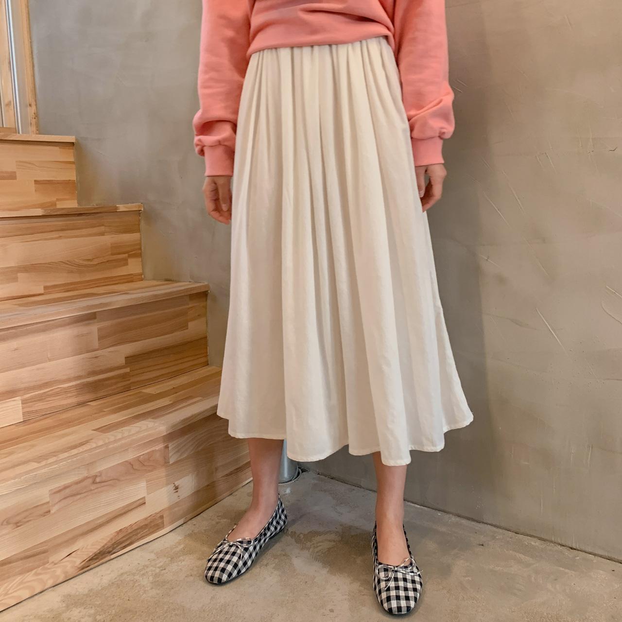 Natural A line skirt