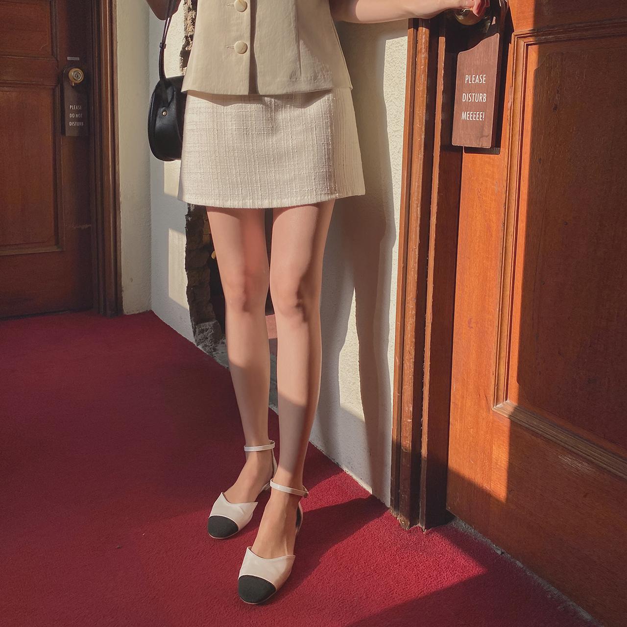 Feminine tweed skirt