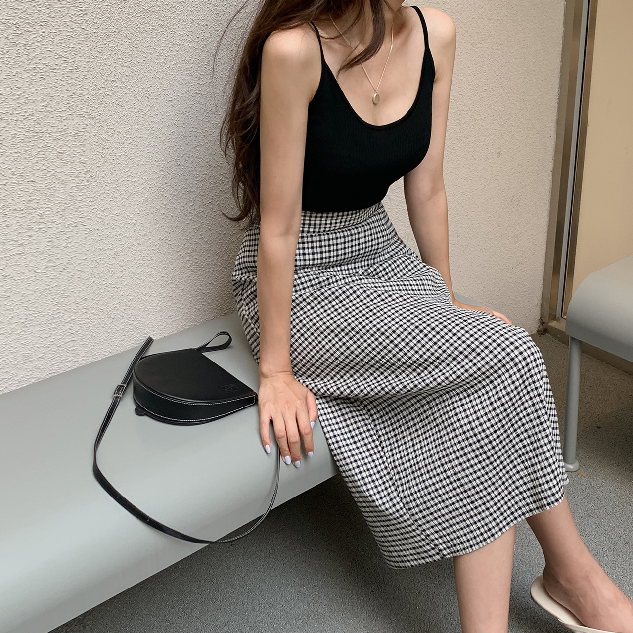 mare check skirt