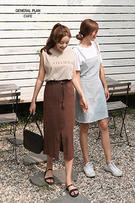 brown chip, skirt