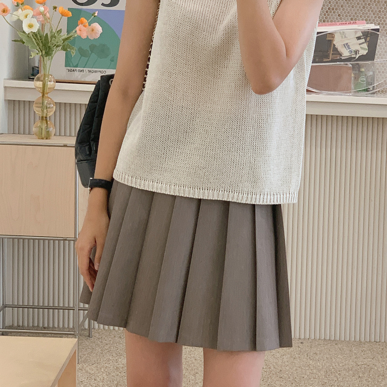 Lisa Pleats Skirt