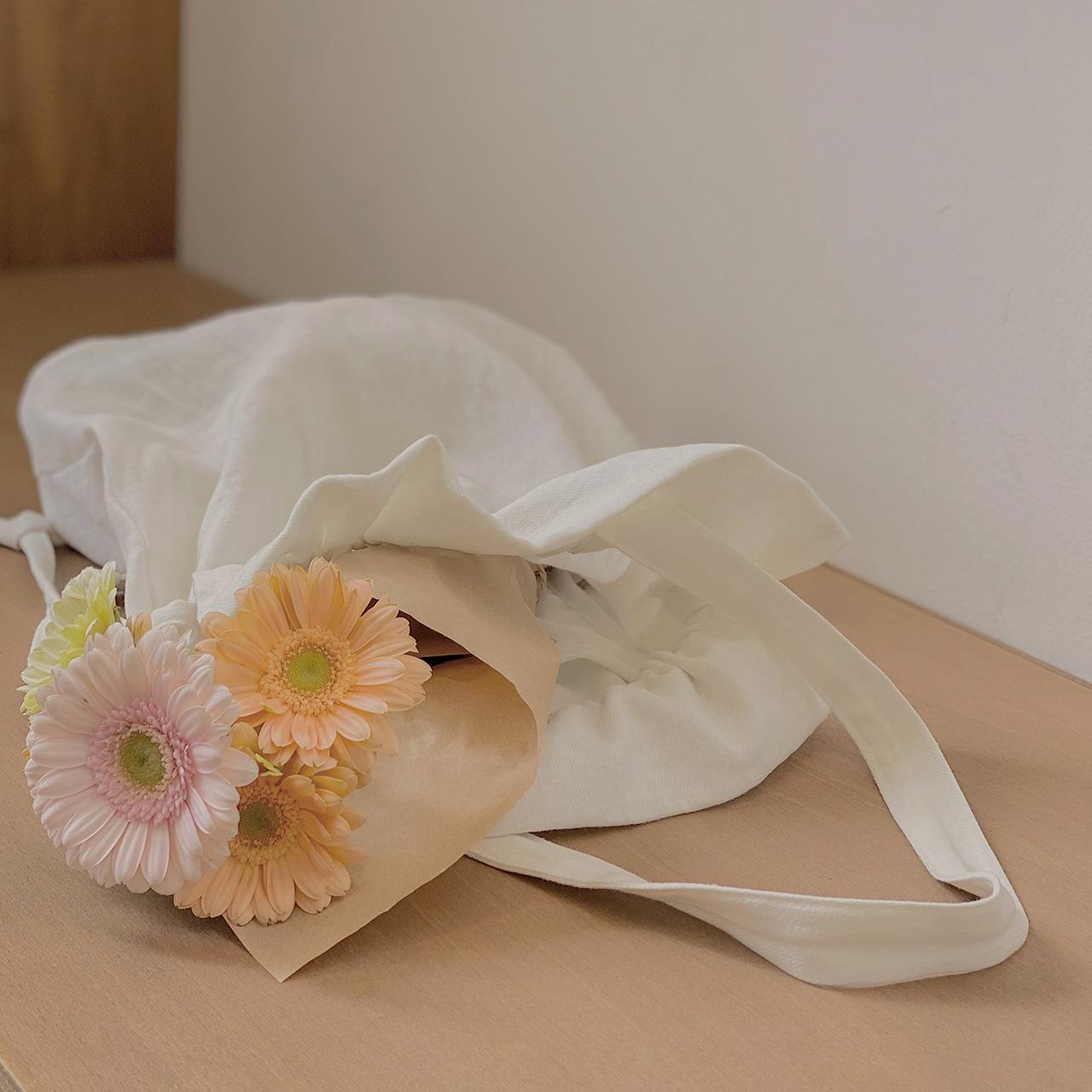 Natural ribbon eco bag