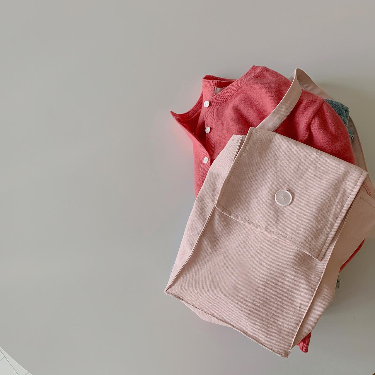 Natural pink eco bag
