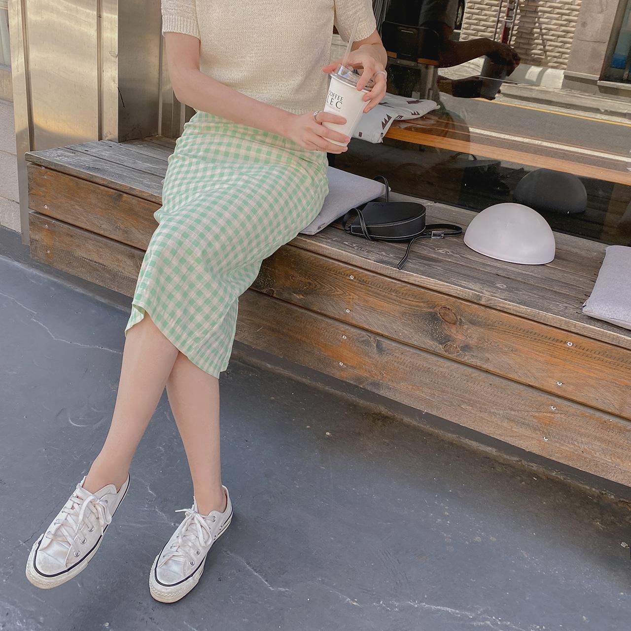 Check Line Skirt