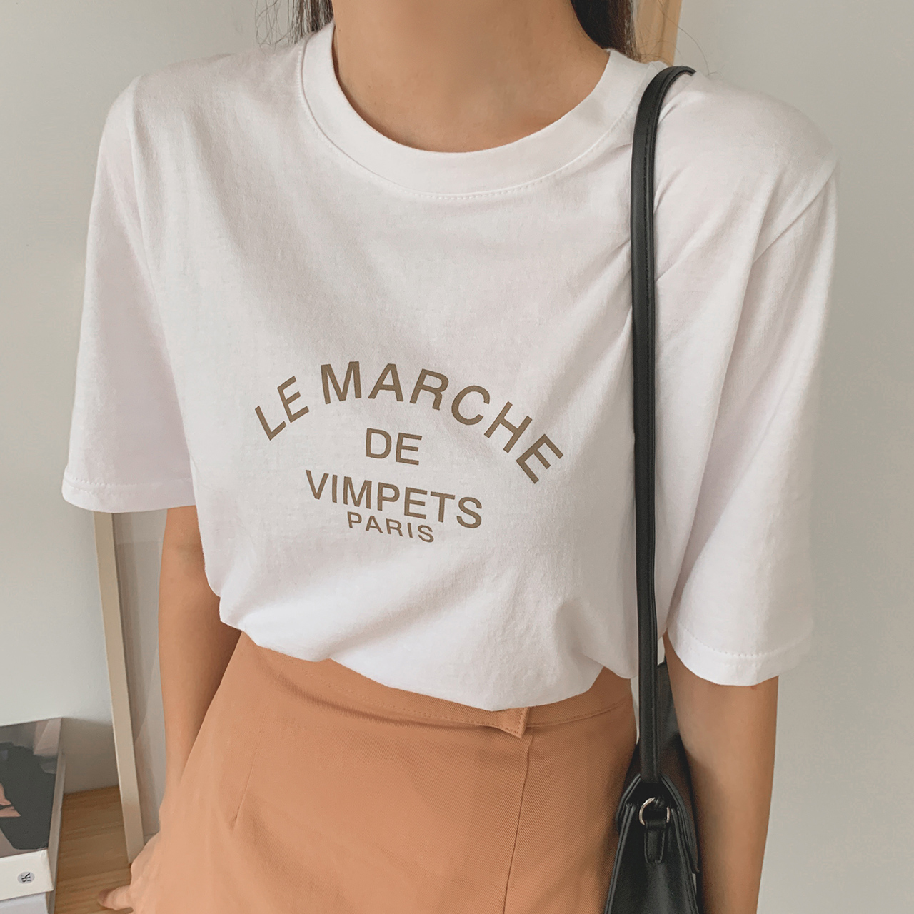 Marche lettering T-shirt